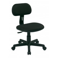 OSP Designs Student Task Chair in Black Fabric (499-3)