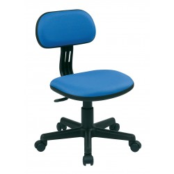 OSP Designs Student Task Chair in Blue Fabric (499-7)