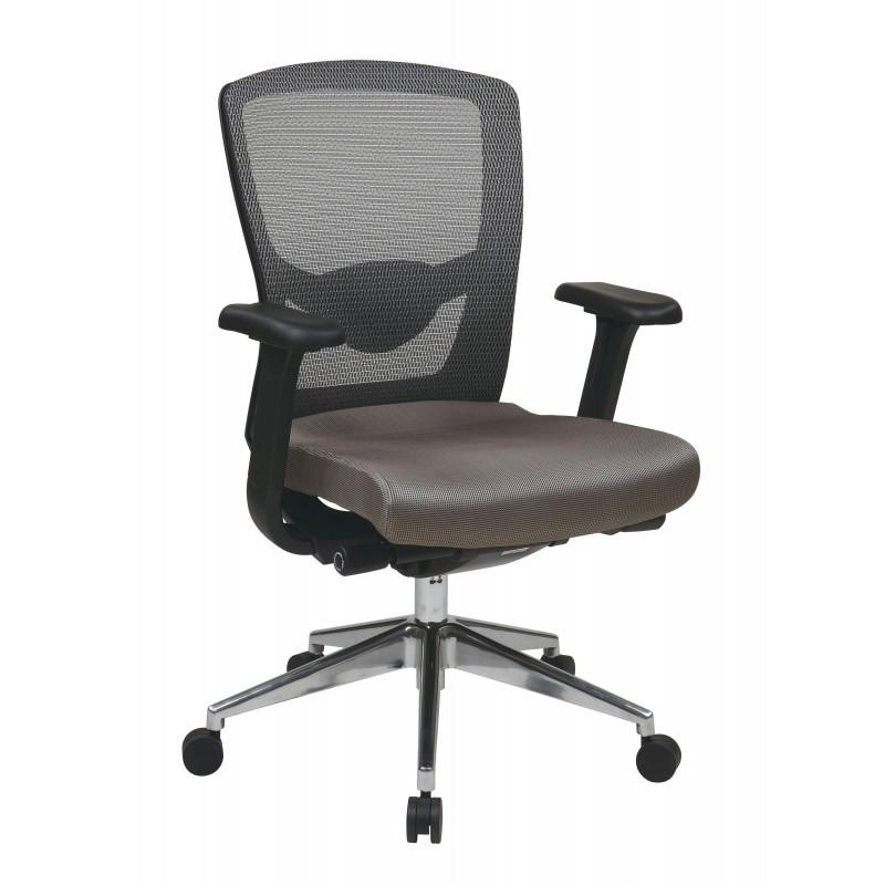 Pro-Line II Grey ProGrid High Back Chair (511342AL)