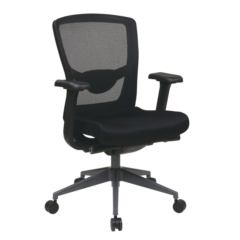 Pro-Line II Executive Black ProGrid Back Chair - Grey (511343AT)