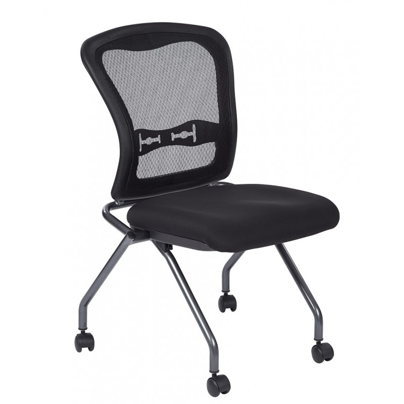 Pro-Line II Deluxe Armless Folding Chair With ProGrid Back (84220-30)