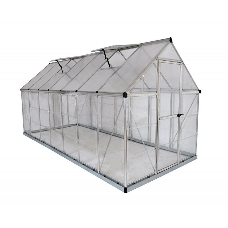 Palram 6x14 Hybrid Hobby Greenhouse - Silver (HG5514)