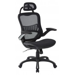 Work Smart Vertical Chair with Nylon Arms and Headrest (69906HR-3)