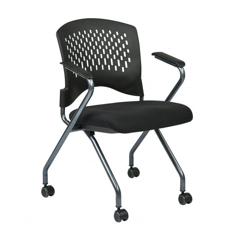 Pro-Line II Deluxe Folding Chair with Ventilated Plastic Wrap Around Back (84330-30)