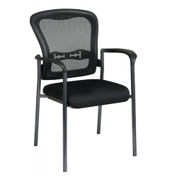 Pro-Line II Titanium Finish Visitors Chair with Arms and ProGrid Back (84510-30)
