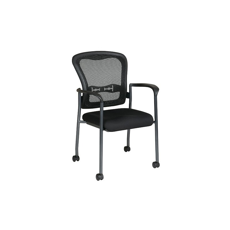 Pro-Line II Titanium Finish Visitors Chair with Arms (84540-30)