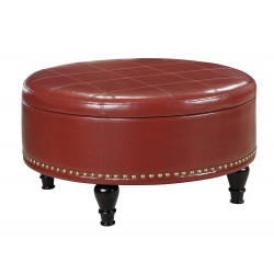 INSPIRED By Bassett Augusta storage Ottoman - Red (BP-AUOT32-B19)
