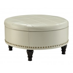 INSPIRED By Bassett Augusta Storage Ottoman - White (BP-AUOT32-B28)