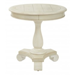 INSPIRED By Bassett Avalon Round Accent Table - White (BP-AVLAT-YCM2)