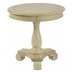 INSPIRED By Bassett Avalon Round Accent Table - White (BP-AVLAT-YM20)