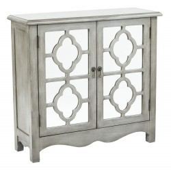 INSPIRED By Bassett Bayview Storage Console- Grey (BP-BAY17-FR2)