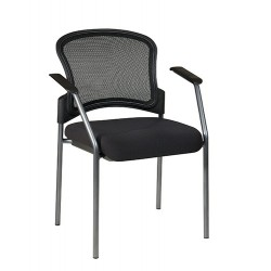 Pro-Line ProGrid Contour Back Titanium Finish Visitors Chair with Arms (86710-30)