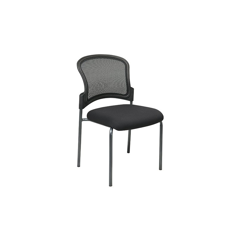 Pro-Line Titanium Finish Black Visitors Chair with ProGrid Back and Straight Legs (86724-30)
