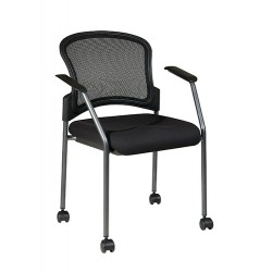 Pro-Line II Titanium Finish Rolling Visitors Chair (86740-30)