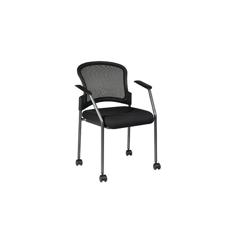 Pro-Line II Titanium Finish Rolling Visitors Chair (86740-30)