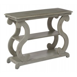 OSP Designs Ashland Console Table in Antique Grey Finish (ASHCSL-YM19)