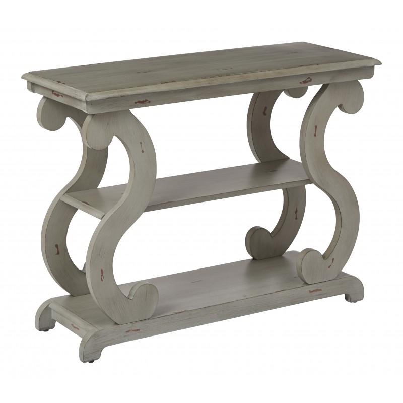 OSP Designs Ashland Console Table in Antique Grey Finish (ASHCSL-YM19)