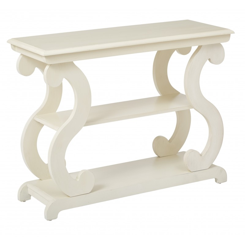 OSP Designs Ashland Console Table in Antique Beige Finish (ASHCSL-YM8)