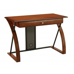 OSP Designs Aurora Computer Desk with Powder-Coated Black Accents - Brown (AR2544R)