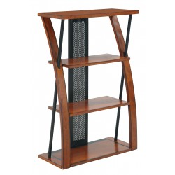 OSP Designs Aurora Bookcase with Powder-Coated Black Accents - Brown (AR27)