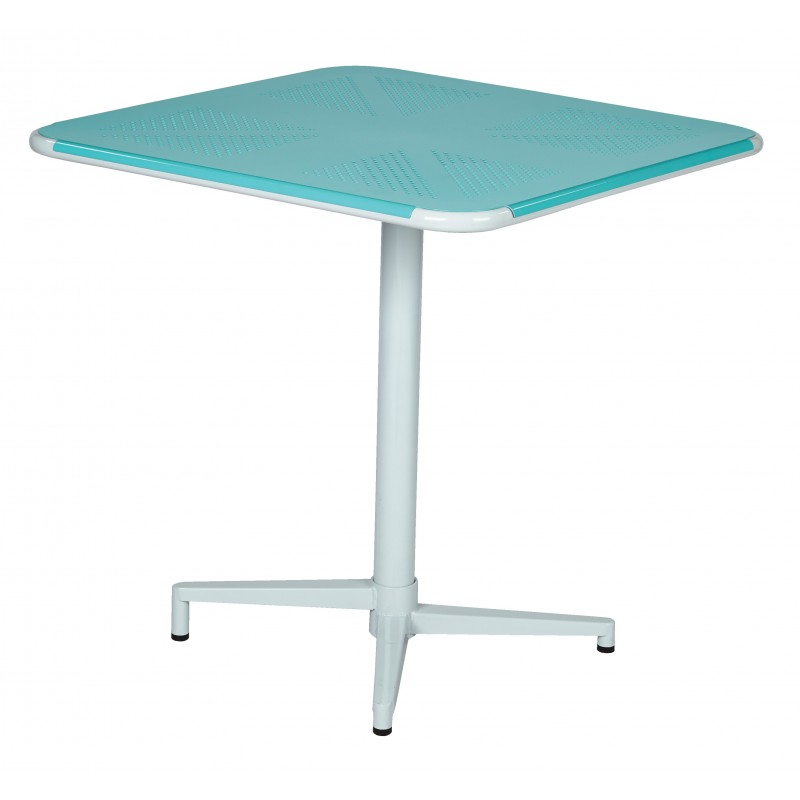 "OSP Designs Albany 30"" Square Folding Table - Pastel Teal (ALB43211-P705)"