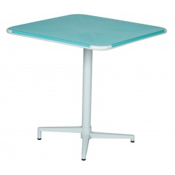 "Work Smart Albany 30"" Square Folding Table - Pastel Teal (ALB43211-P705)"