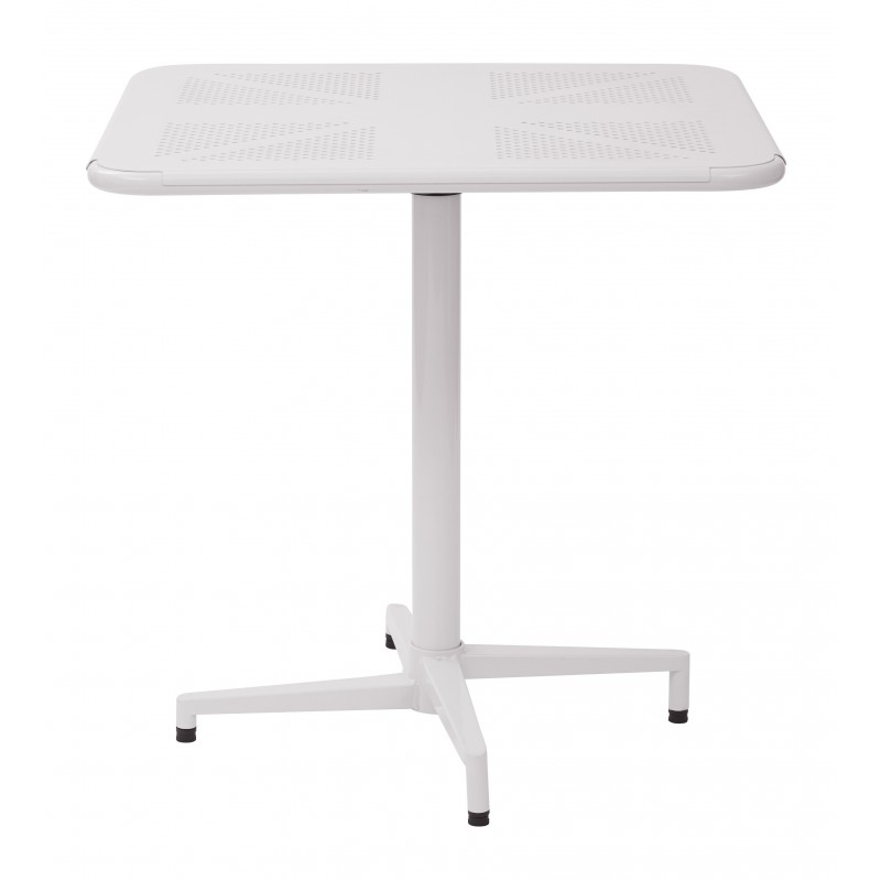 "OSP Designs Albany 30"" Square Folding Table - White Finish (ALB43211-11)"