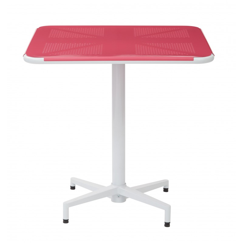 "OSP Designs Albany 30"" Square Folding Table - Pastel Pink Finish (ALB43211-C216)"