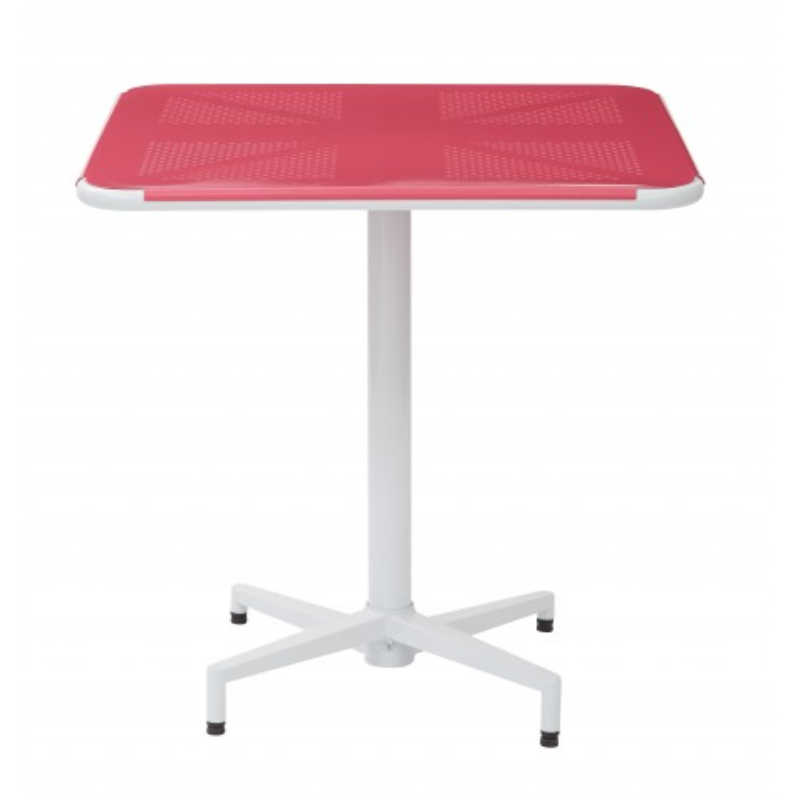 "OSP Designs Albany 30"" Square Folding Table - Pastel Pink Finish (ALB43211-C216)"