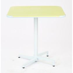 "Work Smart Albany 30"" Square Folding Table - Pastel Lemon Finish (ALB43211-P702)"