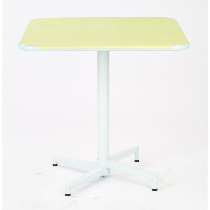 """Work Smart Albany 30"""" Square Folding Table - Pastel Lemon Finish (ALB43211-P702)"""