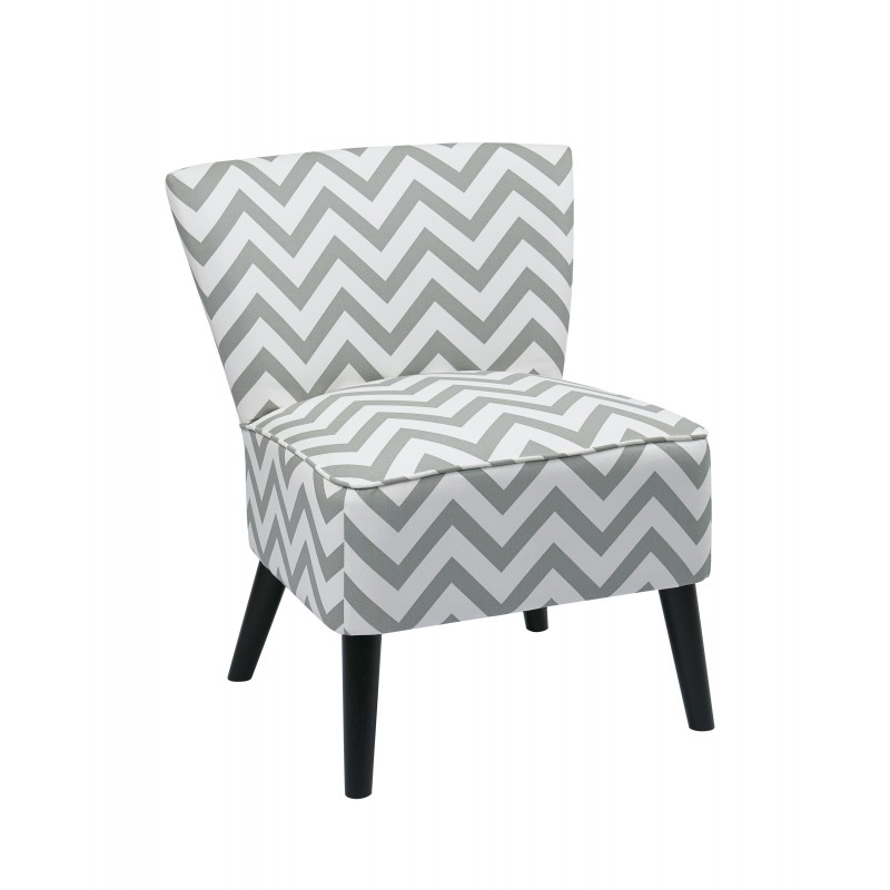 Ave Six Apollo Chair in Zigzag Grey (APL-Z13)