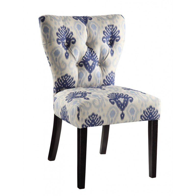 Ave Six Andrew Chair in Medallion Ikat Blue (AND-M13)