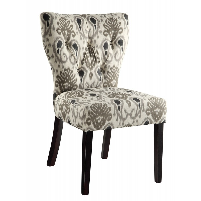 Ave Six Andrew Chair in Medallion Ikat Grey (AND-M15)