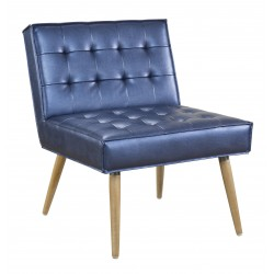 Ave Six Amity Tuffed Accent Chair in Sizzle Azure Fabric With Chrome Legs (AMT51T-S54)