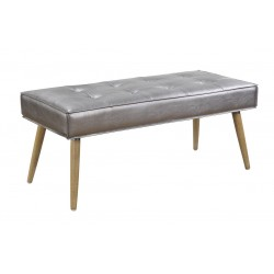 Ave Six Amity Bench In Sizzle Pewter Fabric With Chrome Legs (AMT24-S52)