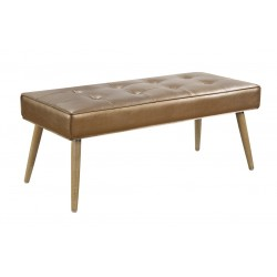 Ave Six Amity Bench In Sizzle Copper Fabric With Chrome Legs (AMT24-S53)