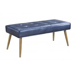 Ave Six Amity Bench In Sizzle Azure Fabric With Chrome Legs (AMT24-S54)