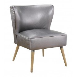 Ave Six Amity Side Chair In Sizzle Pewter Fabric With Chrome Legs (AMT51-S52)
