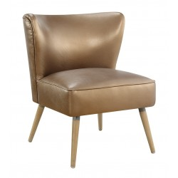 Ave Six Amity Side Chair In Sizzle Copper Fabric With Chrome Legs (AMT51-S53)