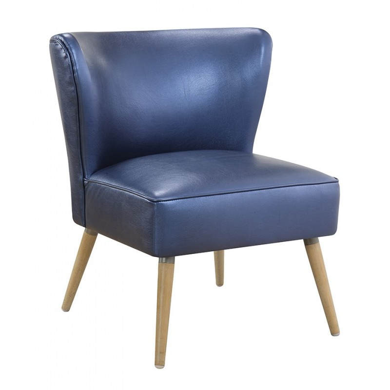 Ave Six Amity Side Chair In Sizzle Azure Fabric With Chrome Legs (AMT51-S54)
