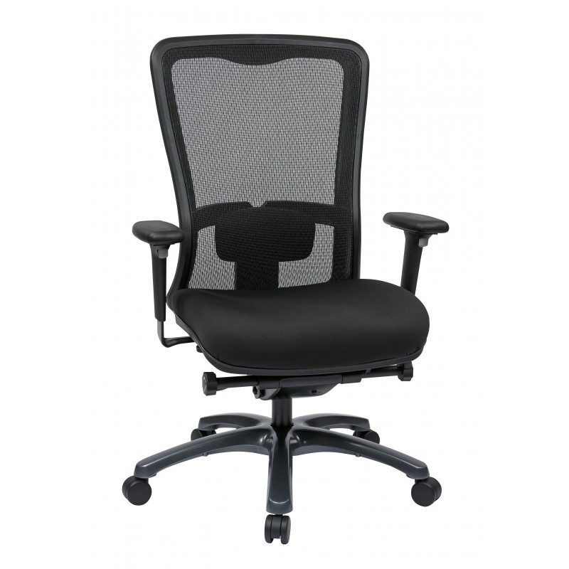 Pro-Line II ProGrid White Mesh Mid Back Chair (97720-30)