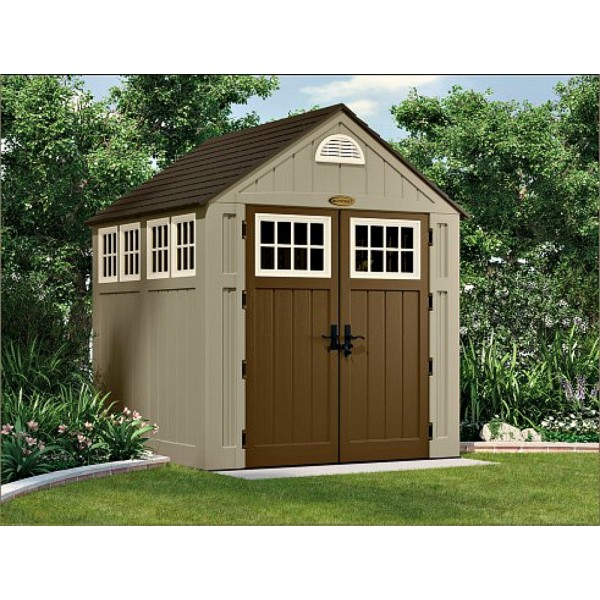 Suncast 2 pack alpine storage shed w floor bms7775 for Two floor shed