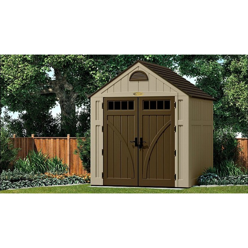 Suncast 7x7 brookland storage shed w floor bms7720 for Garden shed 7x7