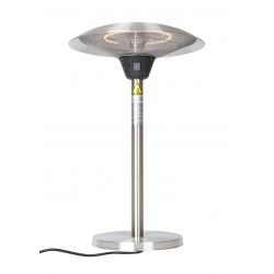 Fire Sense Cimarron Stainless Steel Table Top Halogen Patio Heater (62216)