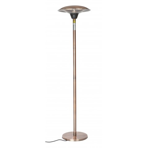 Fire Sense Frisco Brushed Copper Haloge Patio Heater (62220)