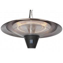 Fire Sense Gunnison Brushed Copper Hanging Halogen Patio Heater (62222)