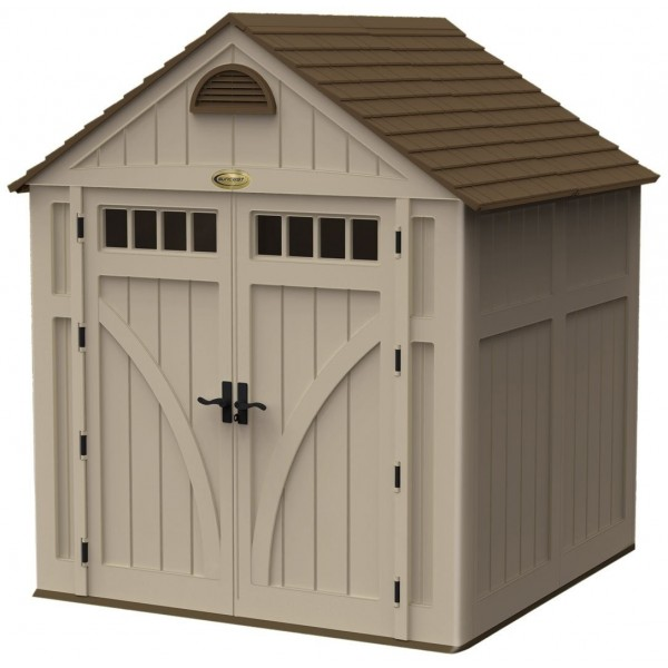 Suncast 7x7 highland storage shed kit w floor bms7700 for Garden shed 7x7