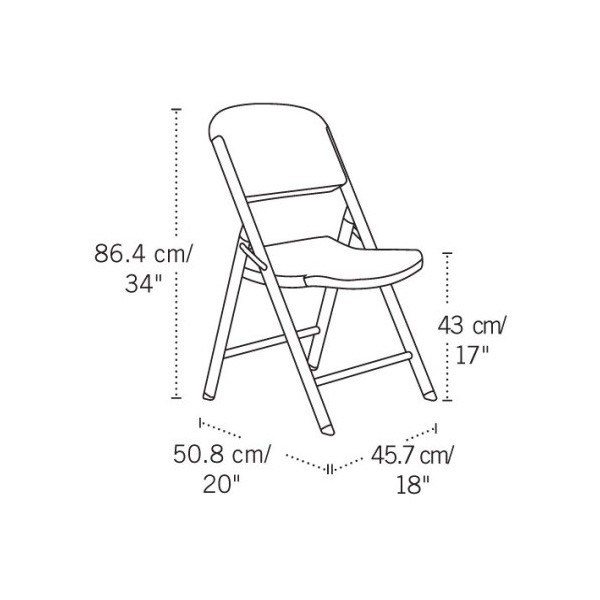 Lifetime 32 Pack Commercial Contoured Folding Chairs