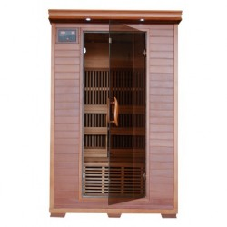 Yukon - Cedar 2 Person FAR Infrared Sauna With Carbon Heaters